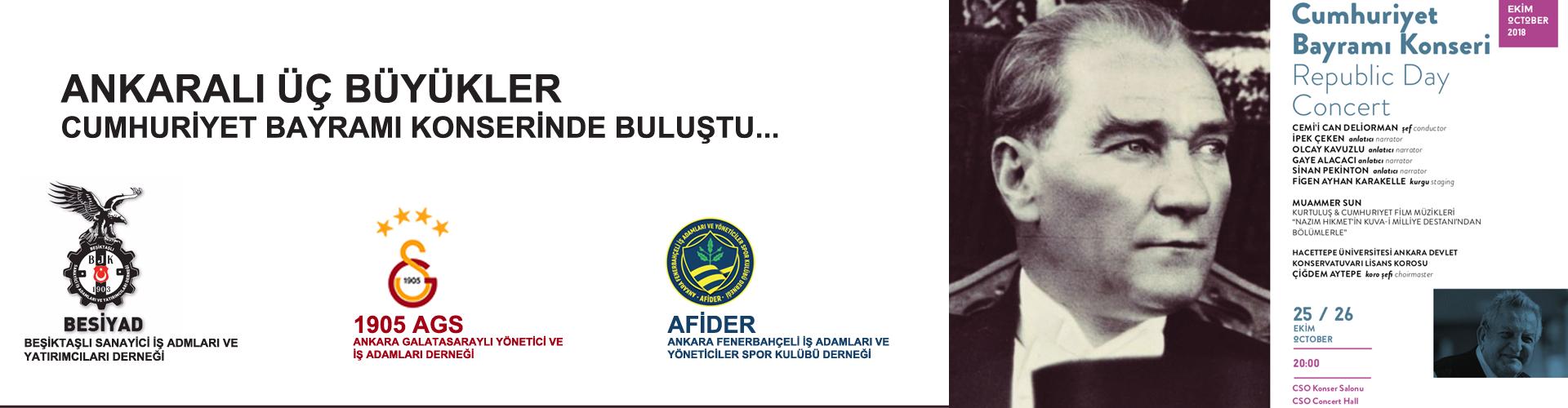 Ankaralı Üç Büyükler Cumhuriyet Bayramı Konserinde Buluştu